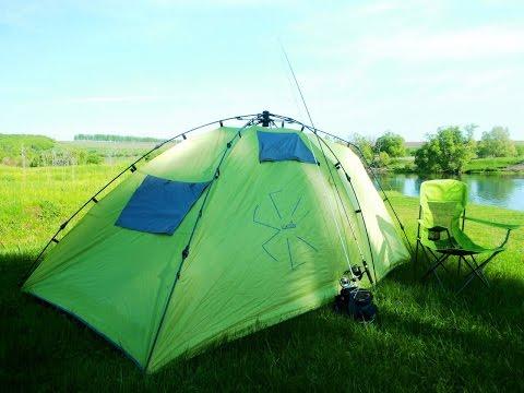 Палатка-автомат Norfin Peled 3 : установка лагеря.