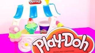 Пластилин Play Doh делаем мороженое