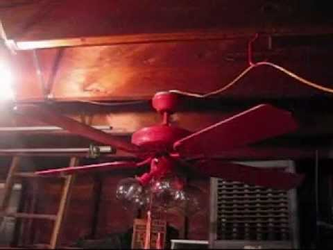Red air cool 52 ceiling fan youtube red air cool 52 ceiling fan aloadofball Gallery