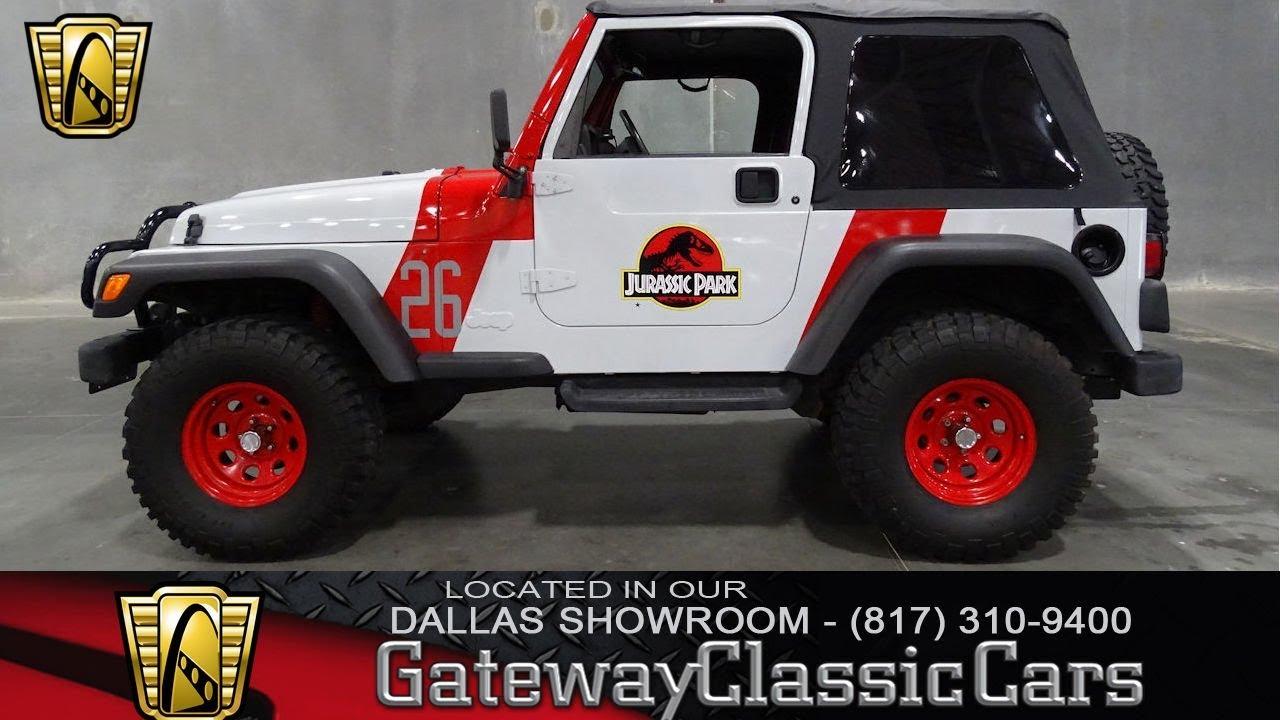 1997 jurassic park jeep wrangler 583 dfw gateway classic cars of dallas youtube. Black Bedroom Furniture Sets. Home Design Ideas