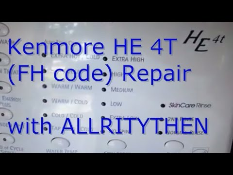 Kenmore HE4T (FH) Repair Code DIY - YouTube