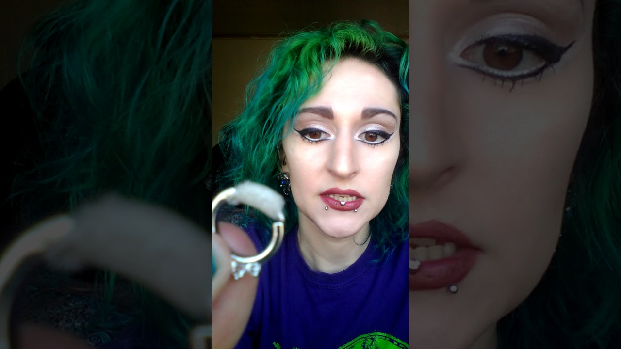 My Septum Piercing Jewelry How To Make It Fit Youtube