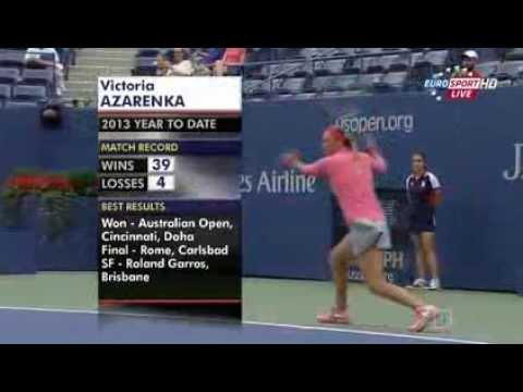 Us Open 2013 4 Round Victoria Azarenka(BLR) vs Ana Ivanovic(SRB)