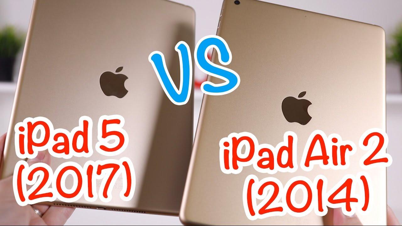 Test De L Ipad 5 2017 Vs Ipad Air 2 Youtube