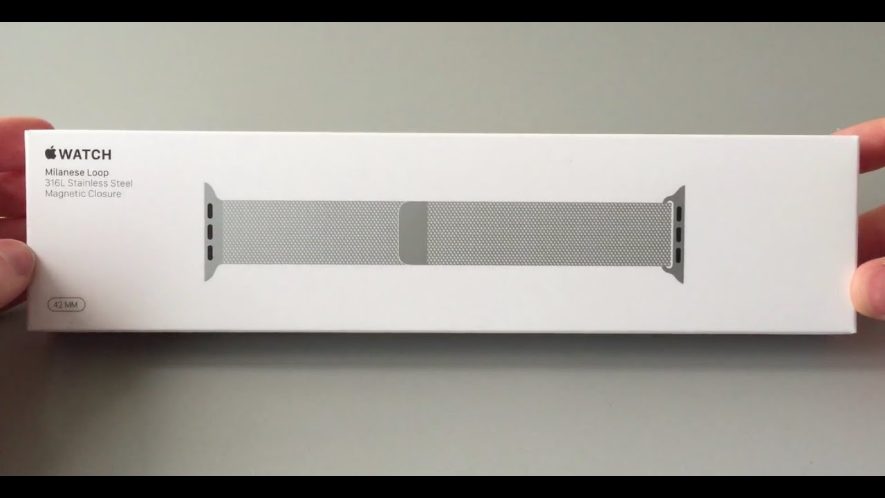 Apple Watch Milanese Loop Unboxing