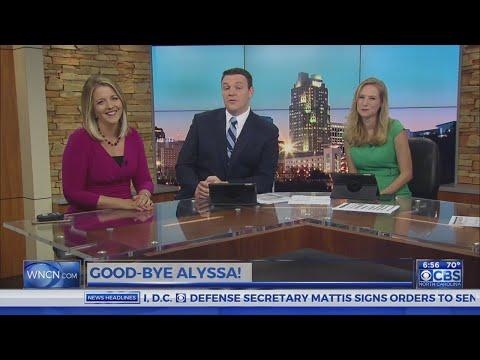 The CBS NC AM crew says goodbye to Alyssa Corfont