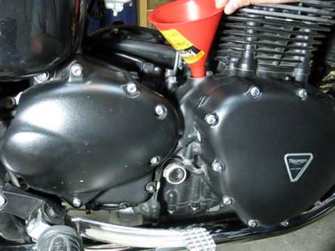 2012 Triumph Bonneville Oil & Air Filter Change