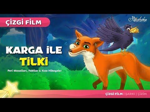 Karga ile Tilki çizgi film masal 40 - Adisebaba Çizgi Film Masallar