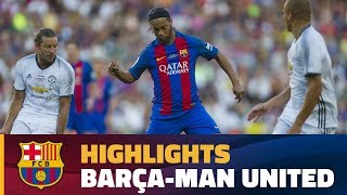 Highlights  Barça Legends – Manchester United Legends  1-3