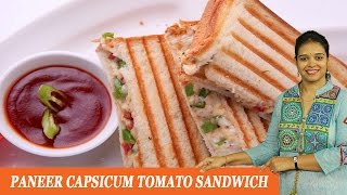 Paneer Capsicum Tomato Sandwich - Mrs Vahchef