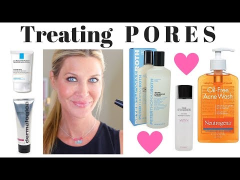 Treating PORES! How to Clear blackheads and make pores appear smaller!