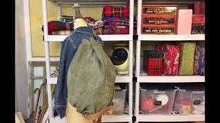 Project: How to Make a military duffel bag into a two sized expanding backpack