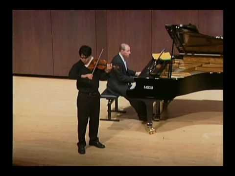 Eric Silberger Plays Sarasate Introduction & Tarantella
