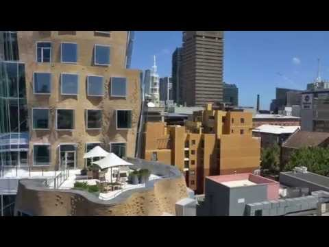 Drone footage of Gehry