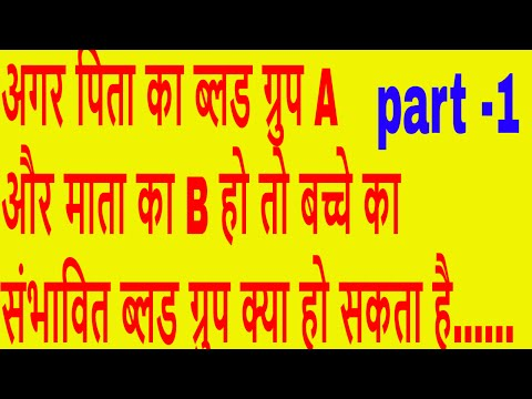 how to find blood group from parents / blood group /biology question /