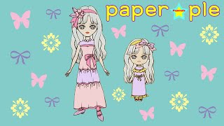 Making a paper dolls in a pink…
