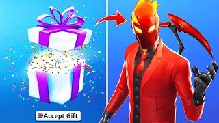 Your favorite Skin from the free store!! Fortnite Gift System: battle royale