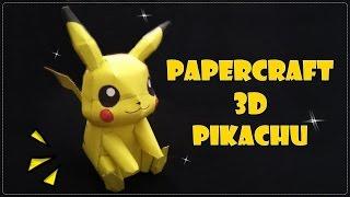 PAPERCRAFT 3D PIKACHU DARI KERTAS HVS