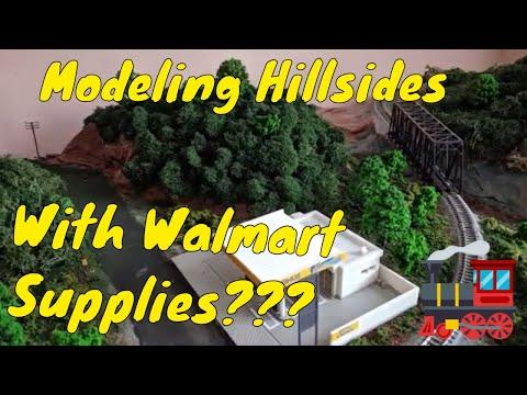 Budget Model Train Scenery: Easy Hillsides with Walmart Supplies