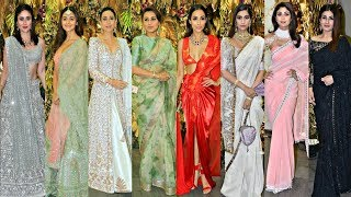 Bollywood Actress At Armaan Jain Wedding Reception  - Kareena, Alia, Karishma, Rani, Malaika, Sonam