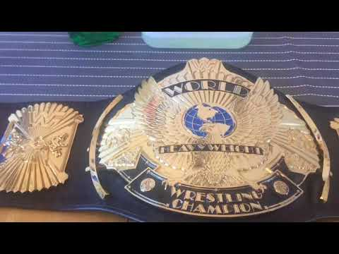 How to clean wrestling belts