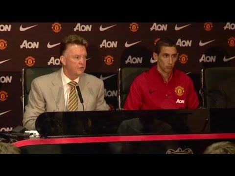 Angel Di Maria Unveiled By Manchester United - Louis van Gaal Says He 'Fits My Philosophy'