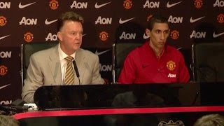 Angel Di Maria Unveiled By Manchester United - Louis van Gaal Says He