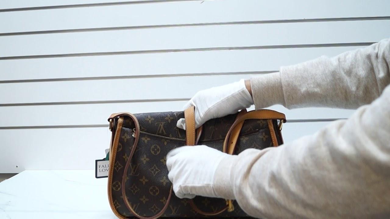 88aae4029b9f LOUIS VUITTON Menilmontant GM Monogram Canvas Shoulder Crossbody Bag E5123