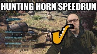 Hunting Horn Low Rank % Speedrun (Monster Hunter World - PS4 Pro Performance Setting)