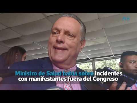 Ministro de Salud habla sobre incidentes con manifestantes fuera del Congreso   Prensa Libre