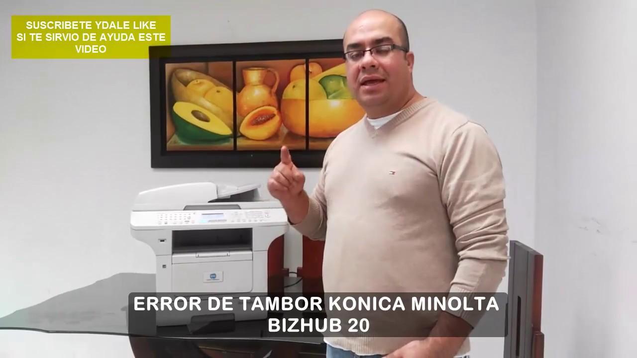 Error De Tambor Konica Minolta Bizhub 20