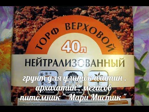 "ГРУНТ ДЛЯ УЛИТОК АХАТИН, АРХАХАТИН, МЕГАСОВ - КАКОЙ МОЖНО ИСПОЛЬЗОВАТЬ ( ПИТОМНИК ""МАРИ МИСТИК"" )"