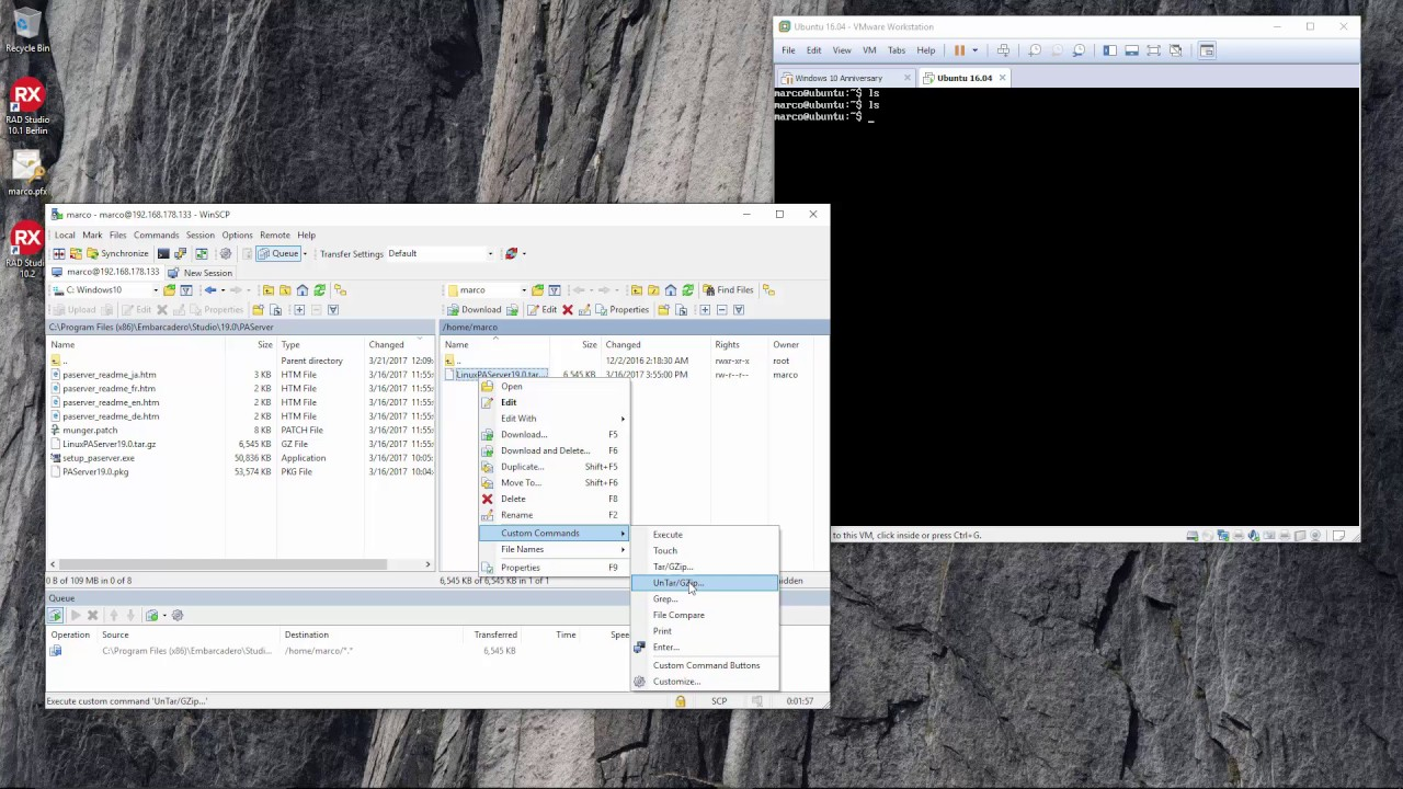 Deploying Files (and PAServer) to Linux via WinSCP