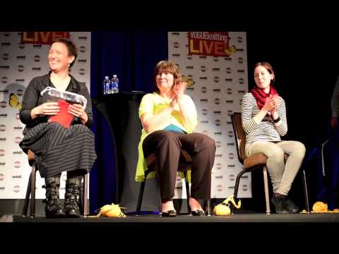 Fastest Needles in the Northwest speed knitting competition at Vogue Knitting LIVE Seattle 2013