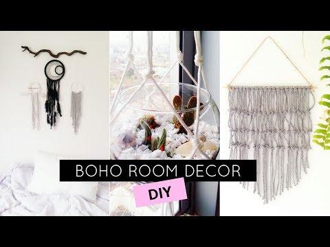DIY EASY BOHO ROOM DECOR | Decoração TUMBLR para quarto!