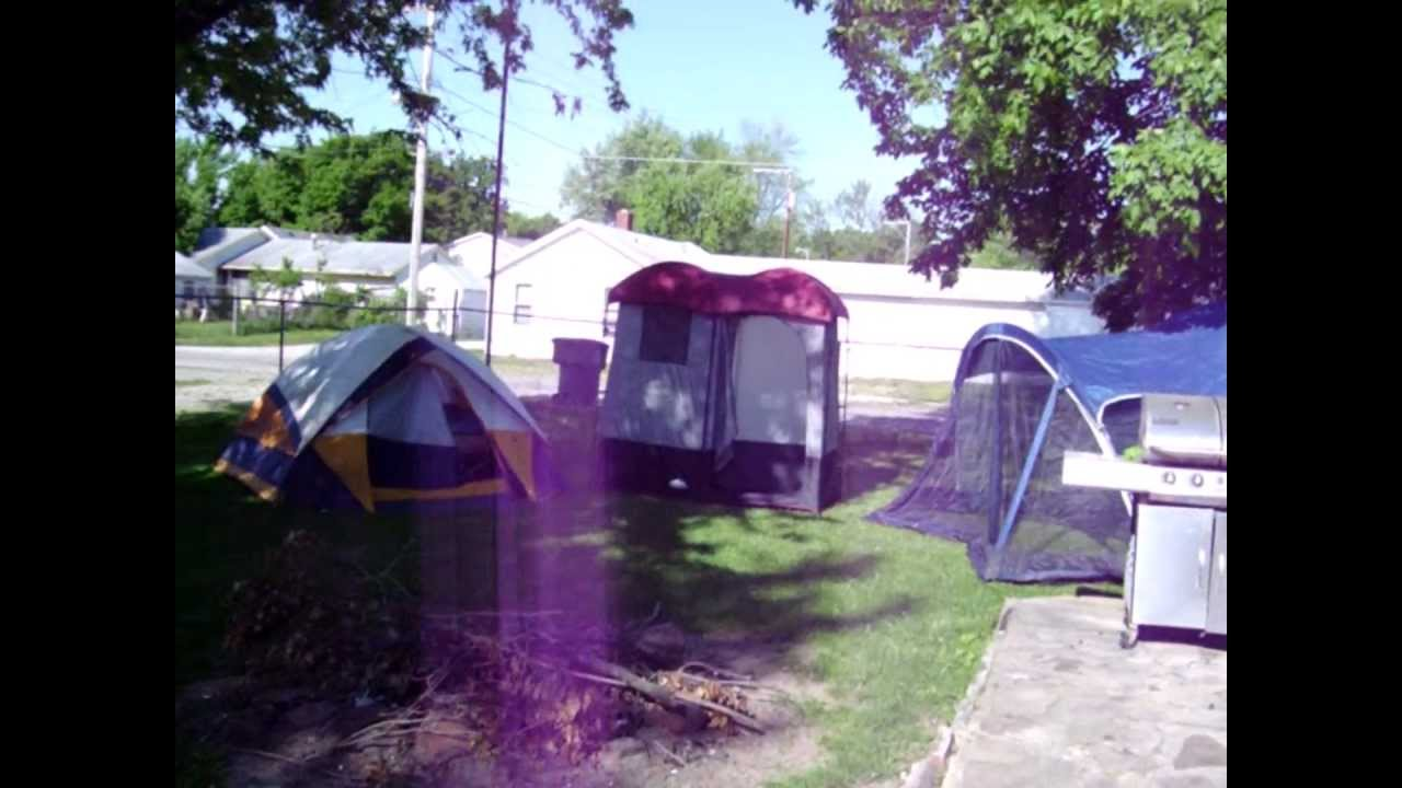 Vacation Camping Set Up Northwest Territories Shower Tent