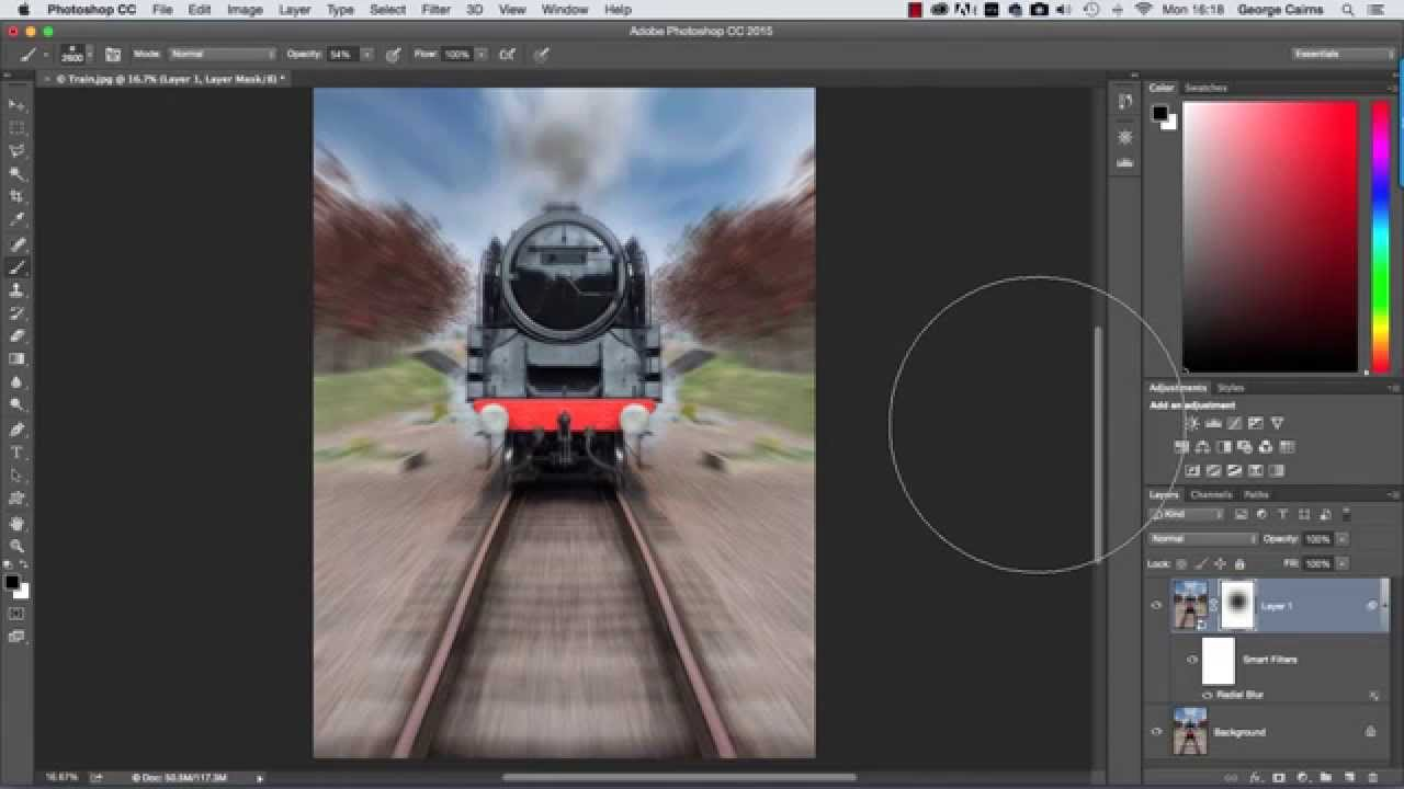 how to make zoom effect in photoshop