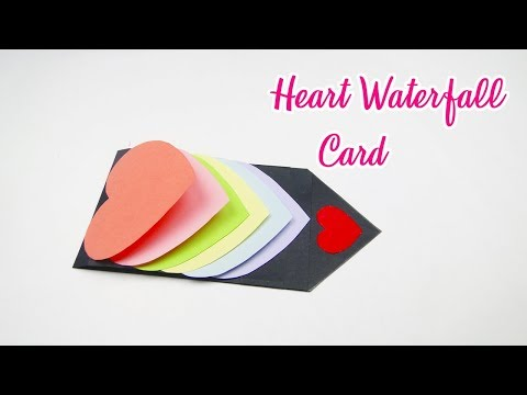 Handmade Waterfall Heart Card For Mother's Day