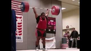 Itte Detenamo Nauru 216 kg clean and jerk at Arnold Classic 2010 slow motion