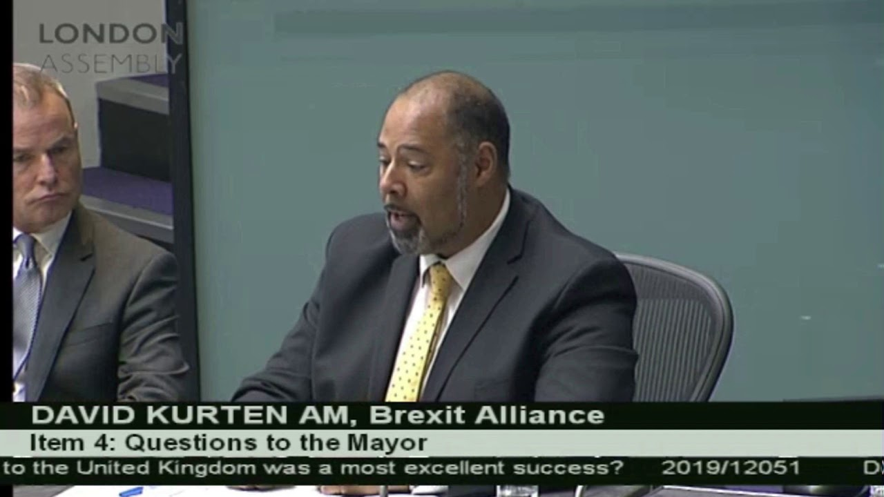 David Kurten heckled by Labour as he questions Khan on his attitude to President Trump.