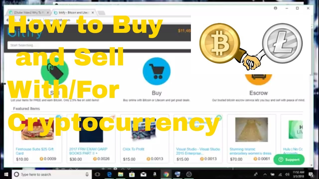 how to sell items for cryptocurrency