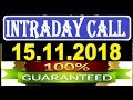 IntraDay Top 3 Jackpot Call  15.11.2018   || today stock || intraday || best stock for 2018