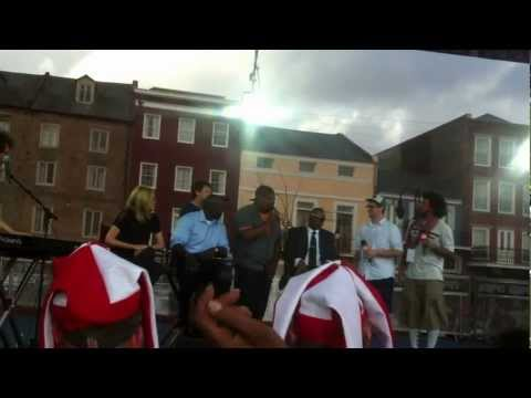 Cris Carter rap by Freestyle Love Supreme on SportsNation Live from Super Bowl XLVII in New Orleans