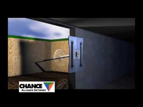 Bowing basement wall helical wall anchor system youtube solutioingenieria Choice Image