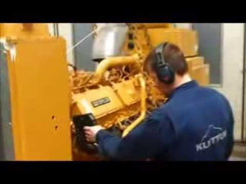 Caterpillar 3412 DITA test after Overhaul at workshop
