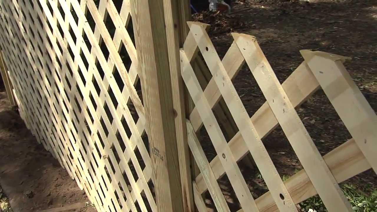 """HouseSmarts DIY Smarts """"Trellis Fence"""" Episode 122 - YouTube"""