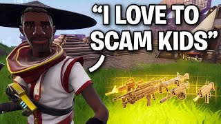 How to instantly spot a SCAMMER!! 😂😳 (Scammer Get Scammed) Fortnite Save The World