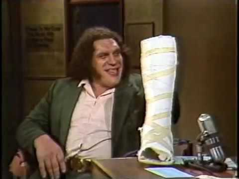 André the Giant on Late Night, January 23, 1984