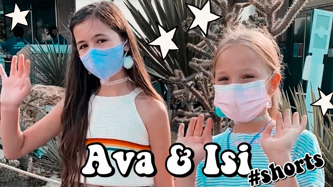 AVA & ISI 🌻 2 GIRLS = 1 FRIENDSHIP 💜 HEY ISI 🐸 #shorts