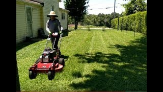 Gage Mowing With The FW 15